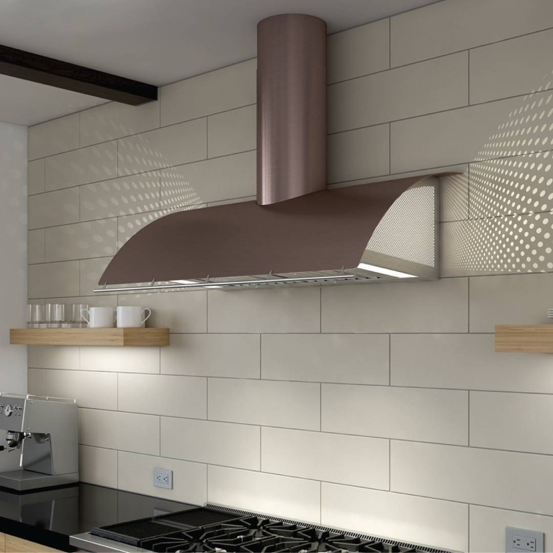 Accent That White Kitchen Design With Trendy Rose Gold On Your Hood The Wall Mount Range Hood Range Hood Range Hoods