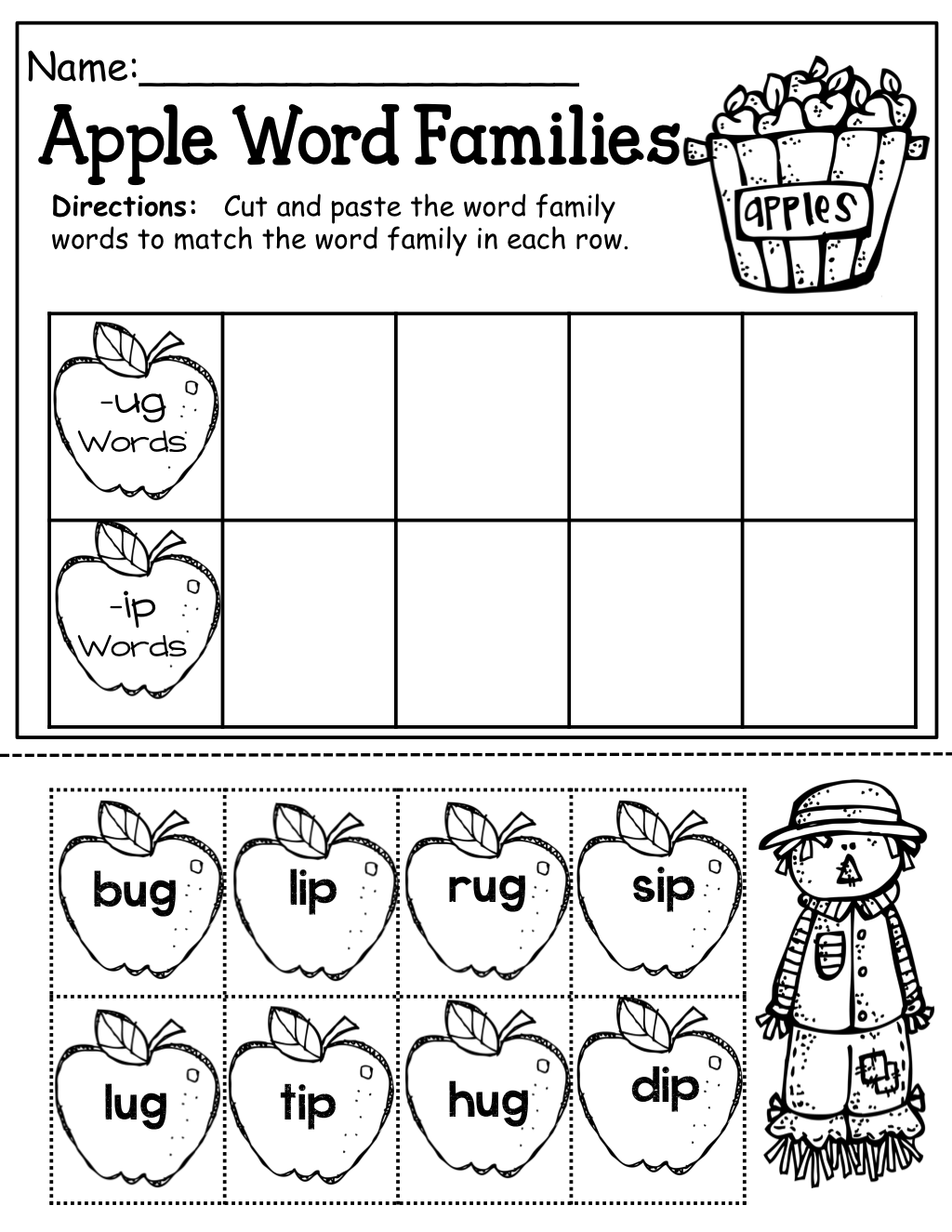 Apple Word Families With Simple Cvc Words