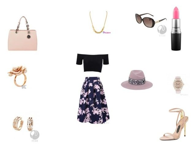 """""""Untitled #406"""" by panicsam ❤ liked on Polyvore featuring American Apparel, MAC Cosmetics, MICHAEL Michael Kors, Tom Ford and Maison Michel"""