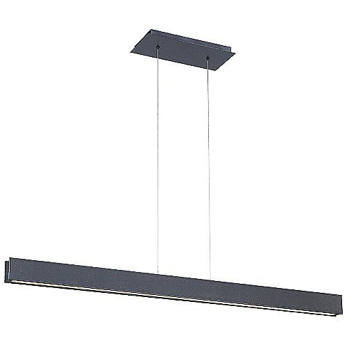 "BDSM LED Linear Suspension by Modern Forms at Lumens.com. More expensive at $687 trade / $859 retail but 120"" adjustable suspension height. (42"" x 2"" fixture)"