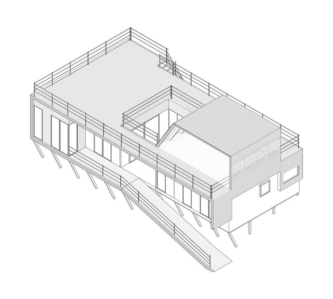 The Folding House,Axonometric