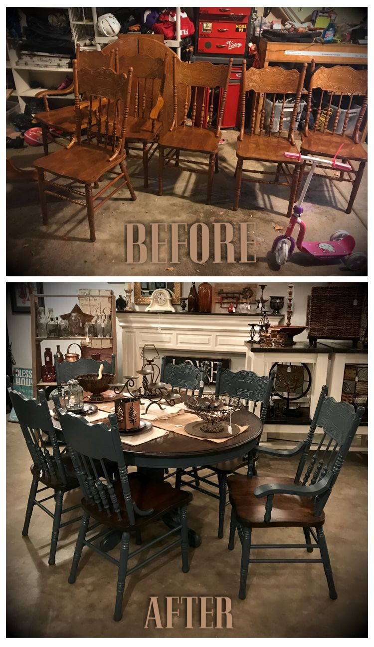 Oak Dining Room Set Took This Old Dated Table And Chairs And Gave