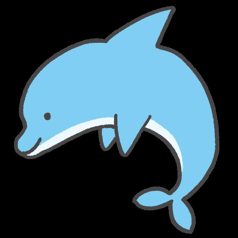 ジャンプするイルカのイラスト 21 イラスト 生き物 かわいい