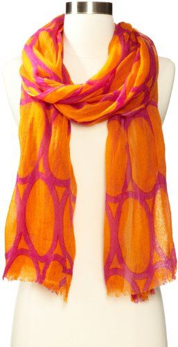 Echo Design Women's Abstract Linework Wrap Scarf for only $17.60 You save: $70.40 (80%)