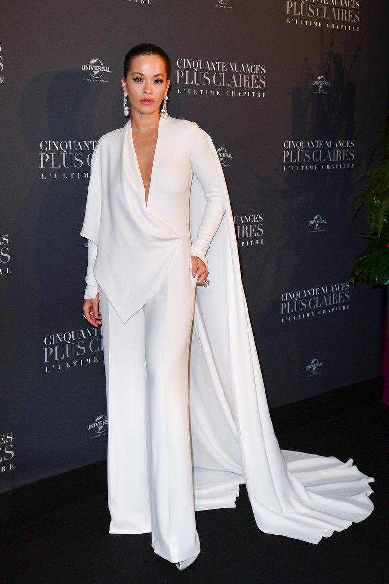 Rita Ora in Stéphane Rolland at the Paris premiere of ...