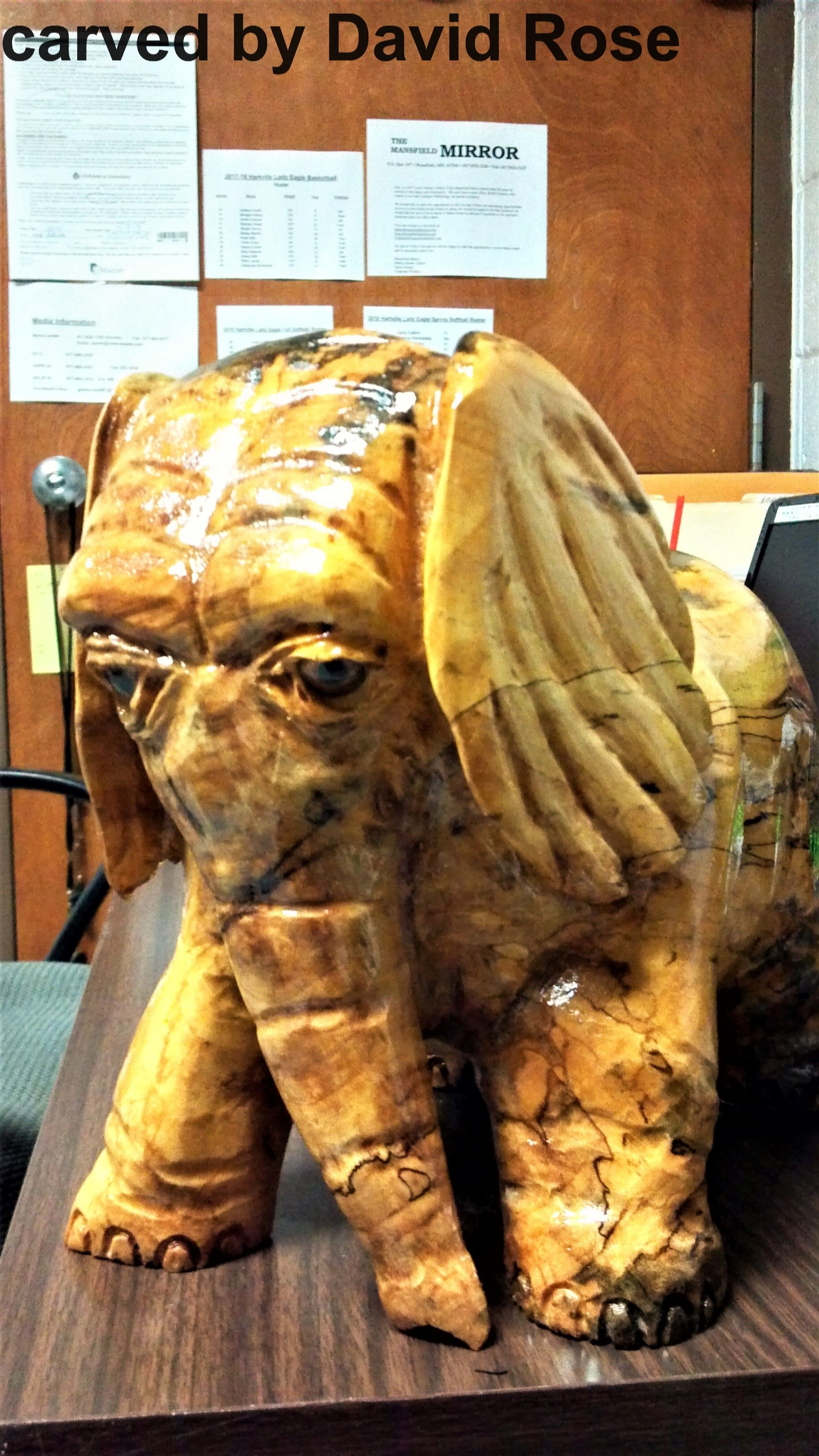 Red maple elephant dave s carvings carving lion sculpture