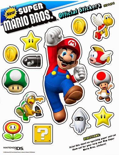 New super mario brothers printable stickers
