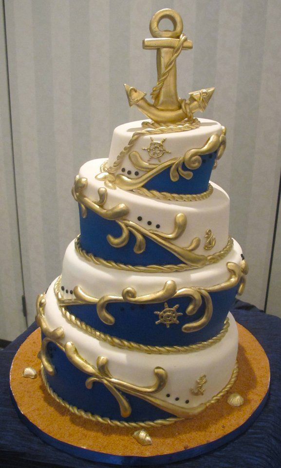 foto de Nautical Wedding Cake If you want the best officiant for