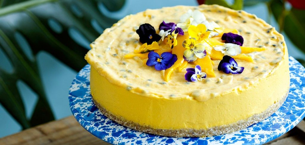 Mango and pineapple mousse cake from Little Bird Unbakery {dairy free, egg free, gluten free and nut free}