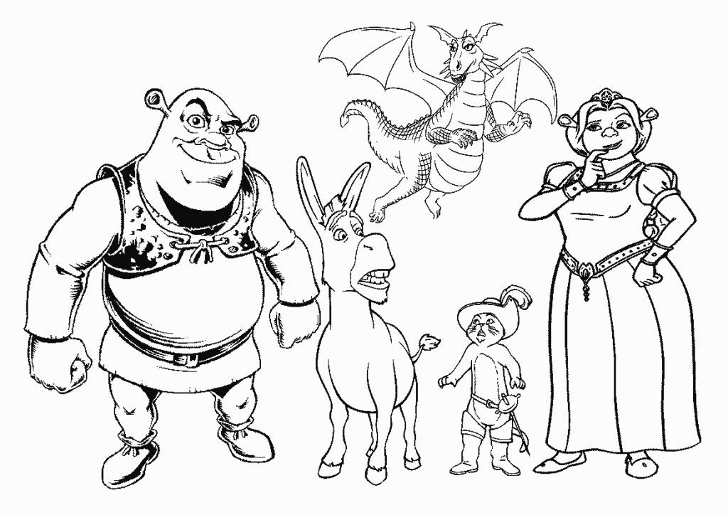 Shrek Coloring Pages Disney coloring pages, Coloring