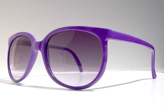 Purple Sunglasses 1980s