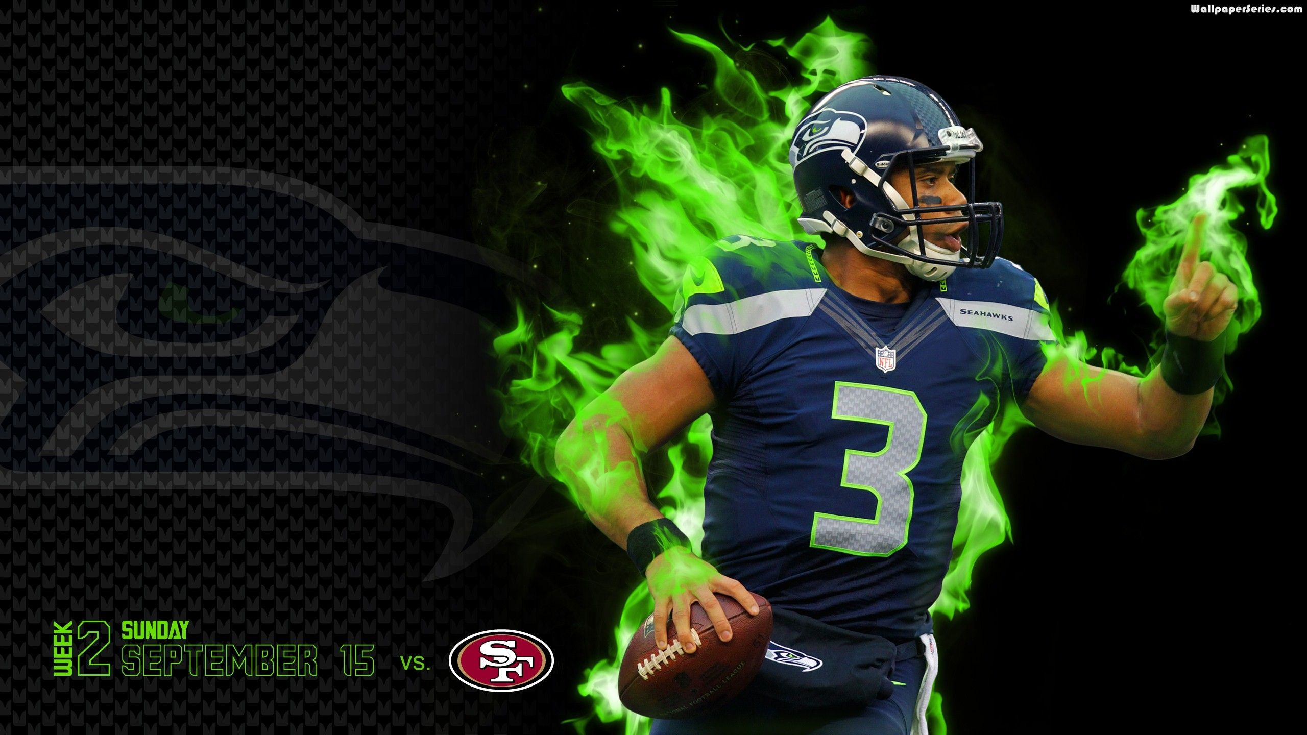Seattle Seahawks Player Desktop Wallpaper 2560x1440