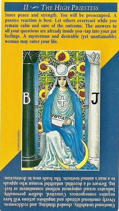 II - The High Priestess | Tarot card readers. Tarot meanings. Learning tarot cards