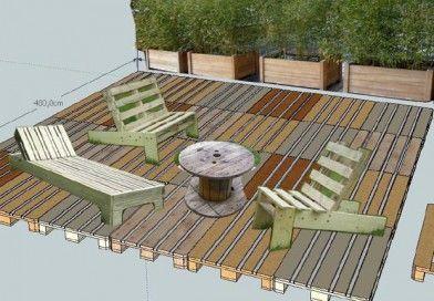 Esprit Cabane En 2020 Terrasse Palette Terrasse Amenagement Jardin