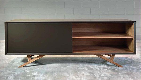Modern Sideboard Credenza Storage Usona, Sideboard With Angles Leg Detail,  Dynamic.