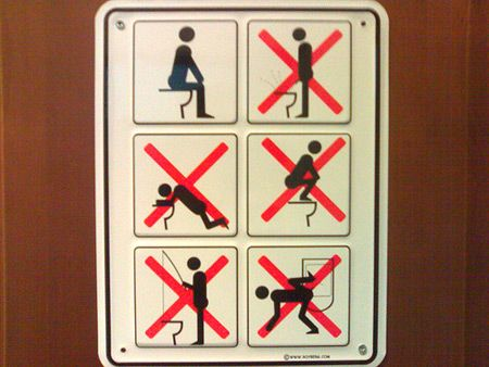 Bathroom Funny 20 creative and funny toilet signs - oddee (bathroom sign