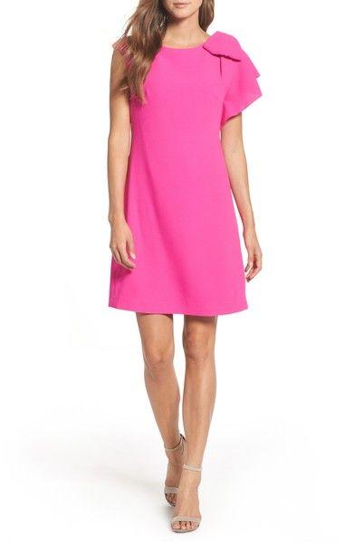 d6a7d17a362 Main Image - Eliza J Ruffle Sleeve Shift Dress (Regular   Petite ...