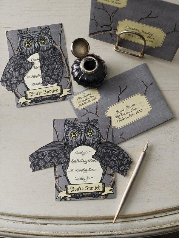Martha Stewart Owl Invitations Harvest and Halloween Pinterest - martha stewart halloween ideas