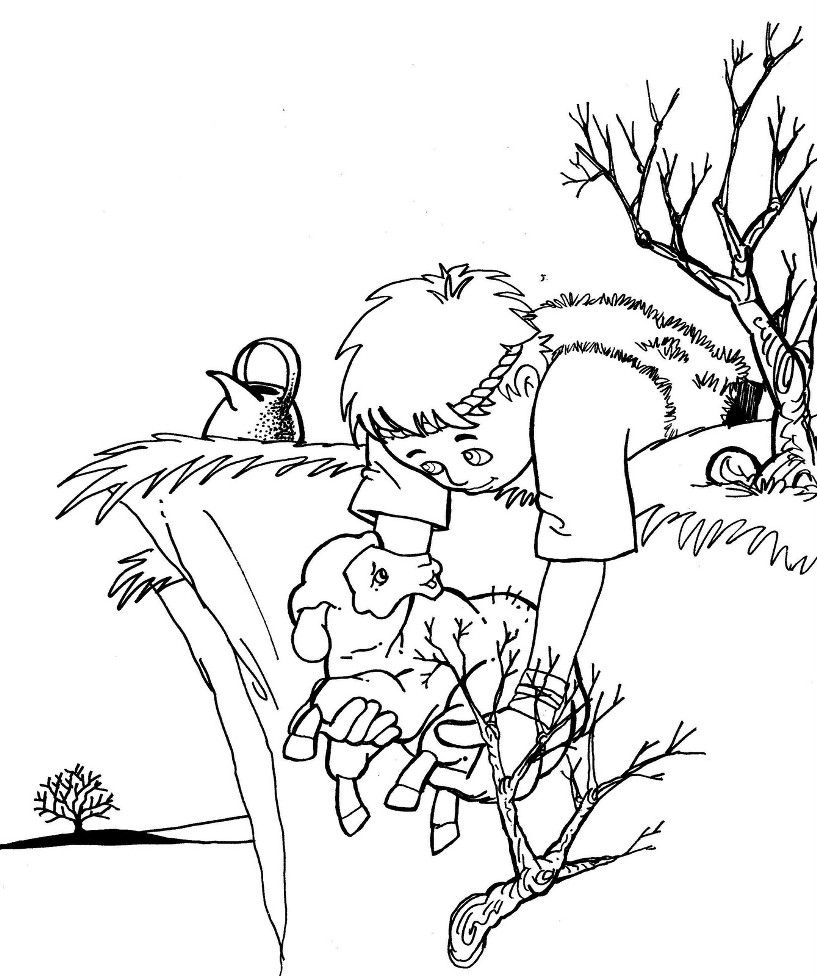 Lost Sheep Coloring Page | Christian Coloring Pages-NT ...