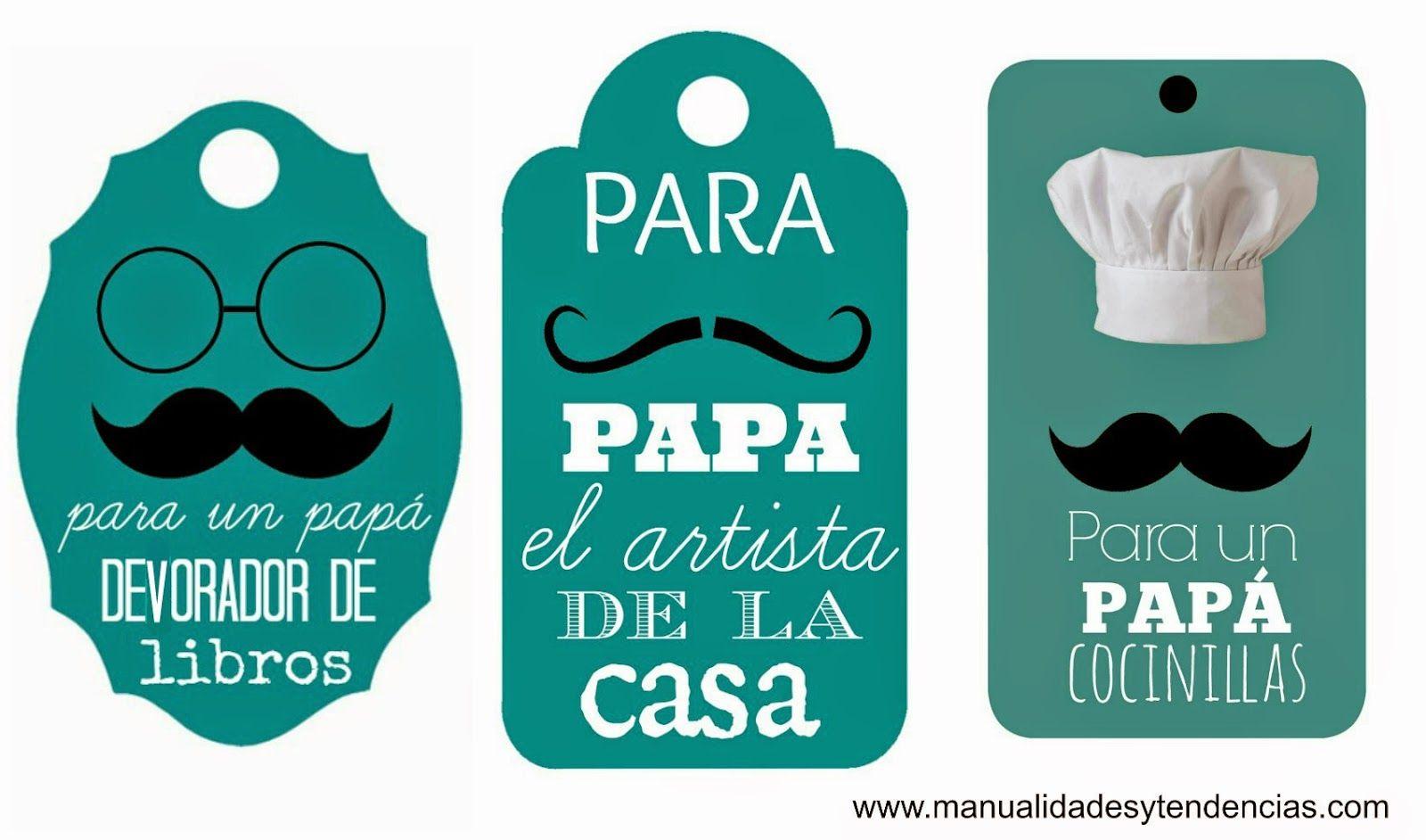 Etiquetas Regalo Imprimibles Para El Dia Del Padre Tarjetas Dia