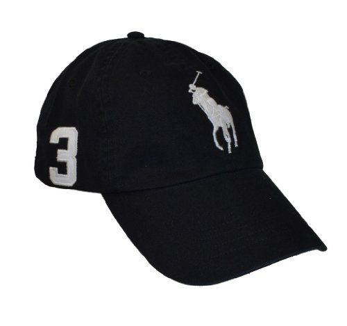 Polo Ralph Lauren Big Pony Hat Cap Black with White pony $37.99
