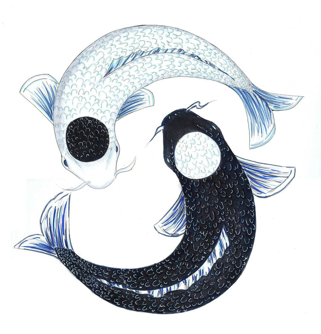 Yin yang fish bing images tattoos pinterest for Koi fish yin yang tattoo