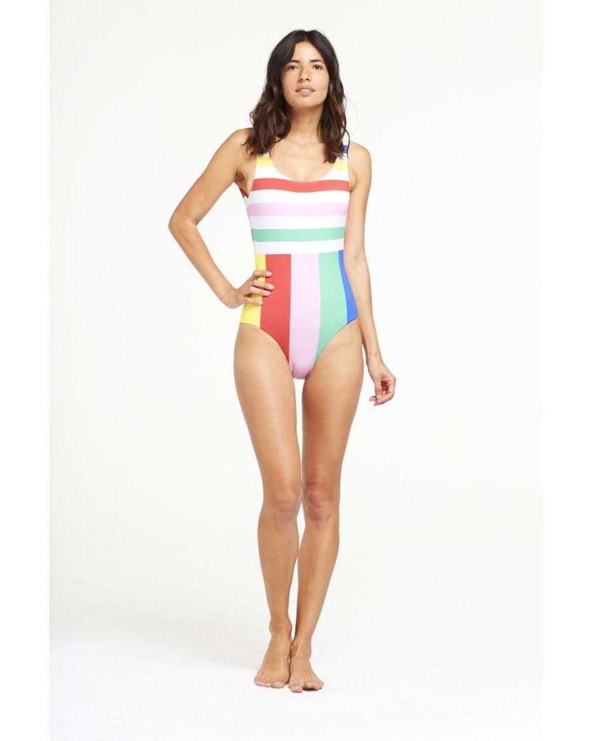 24bf2030e97 Onia Kelly One Piece Swimsuit Nylon Spandex - Rainbow Stripe S ...