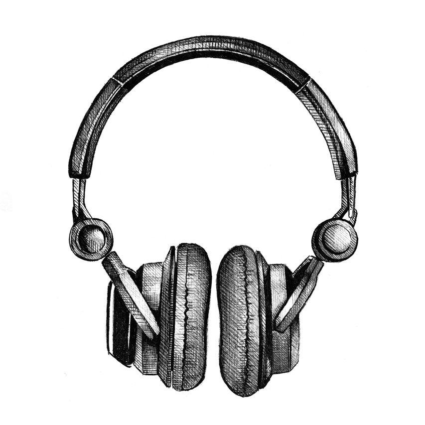Http Siblingandco Com Headphones Art Headphones Drawing Music Illustration
