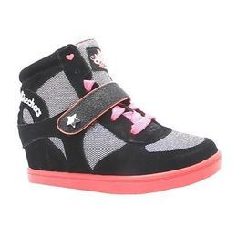 girls skechers high top