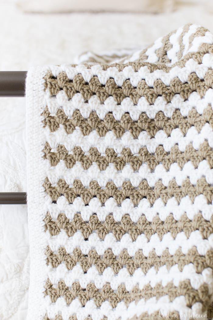 Simple Granny Stripe Afghan | Frazada, Manta y Cobija