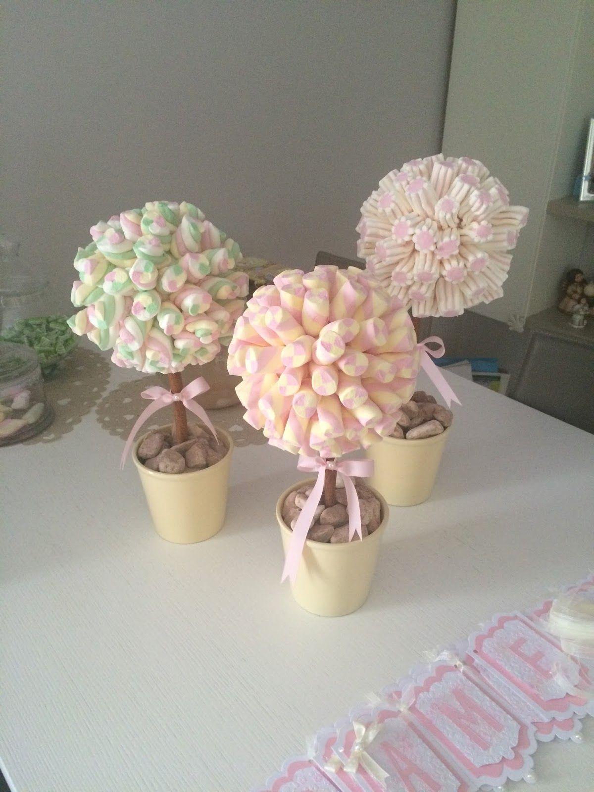 Alberi marshmallow idee pinterest alberi alberi di for Idee buffet comunione