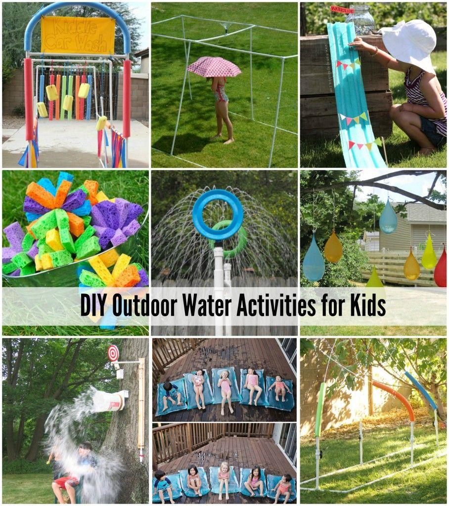 diy backyard ideas for kids outdoor water activities water