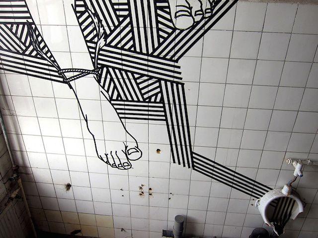 CULTURE N LIFESTYLE — Masking Tape Street Art Australian street ...
