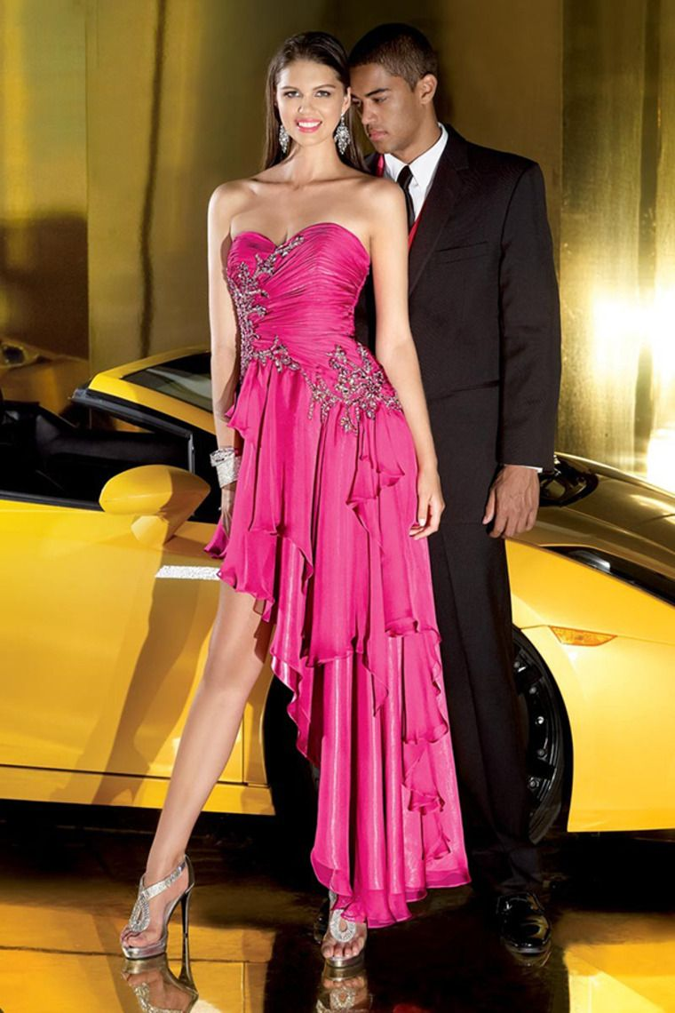 Buy 2014 Collecti Prom Sweetheart Sleeveless Asymmetrical Chiff ...