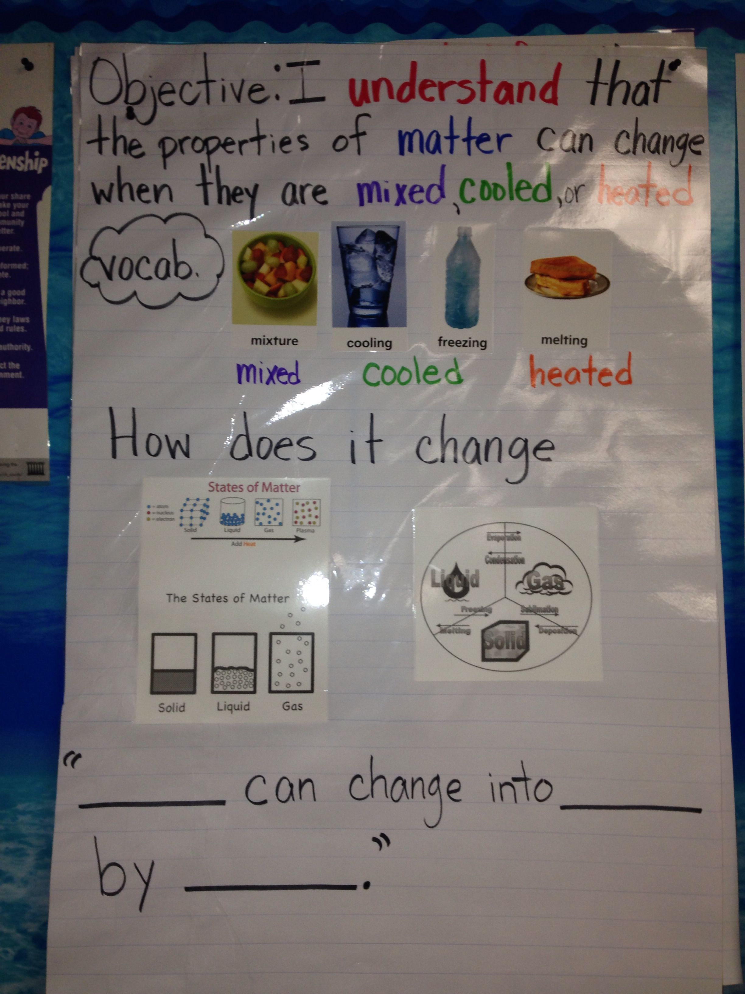 First Grade Science Changing Matter