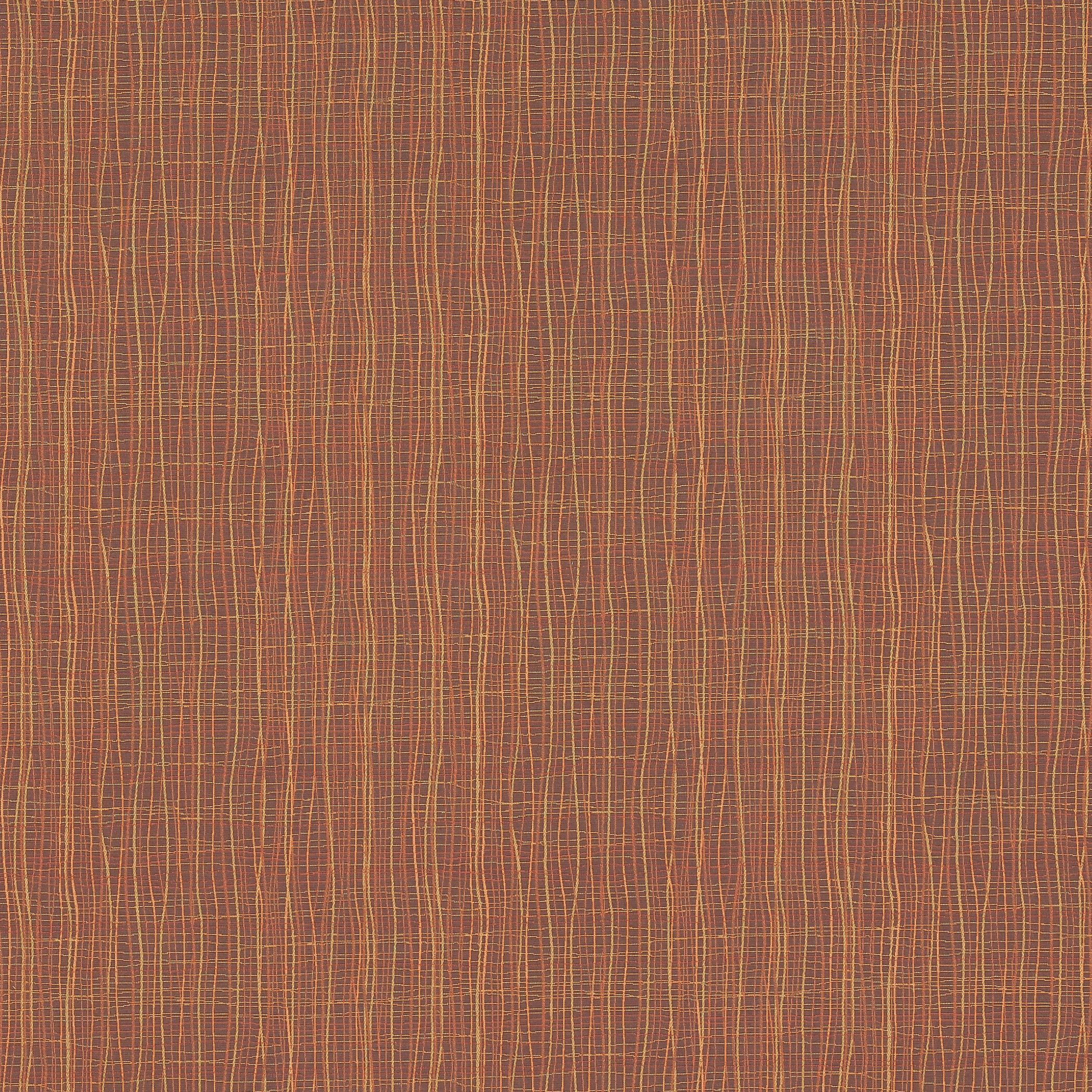 Brook Ginger Orange And Orange Geometric Woven Upholstery Fabric