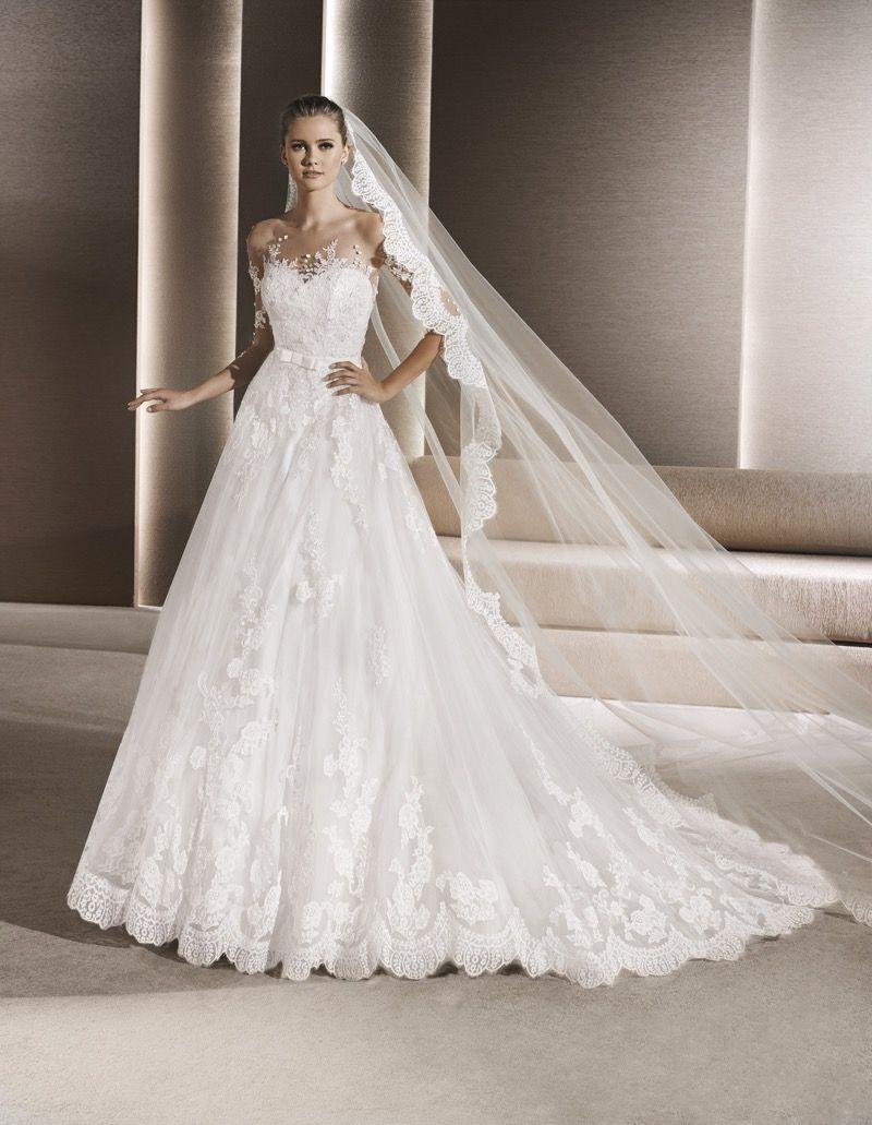 La Sposa 2016 Bridal Collection Beautiful Wedding Dress Bridal Dresses Applique Wedding Dress Wedding Dresses Lace