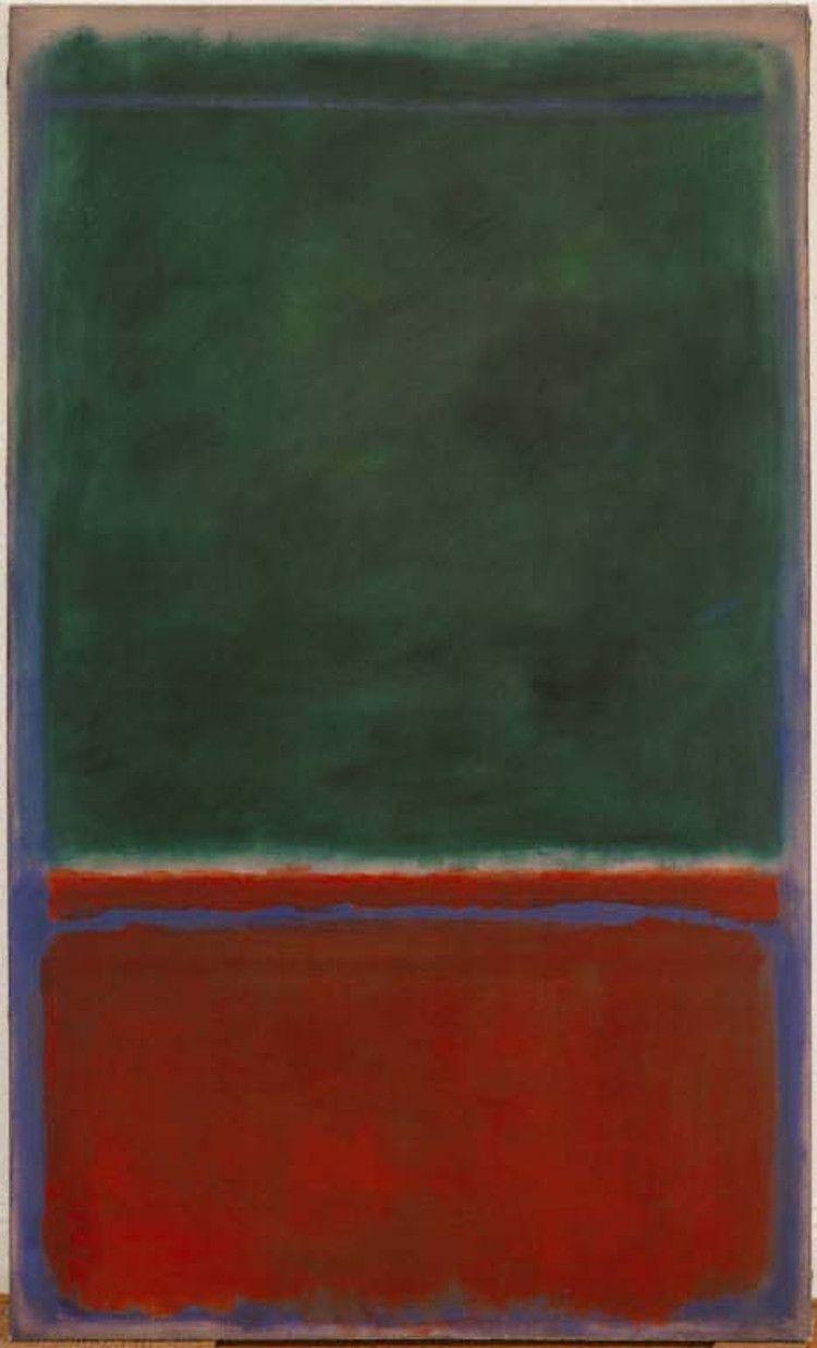 ~Rothko~ Green and Maroon (1953)