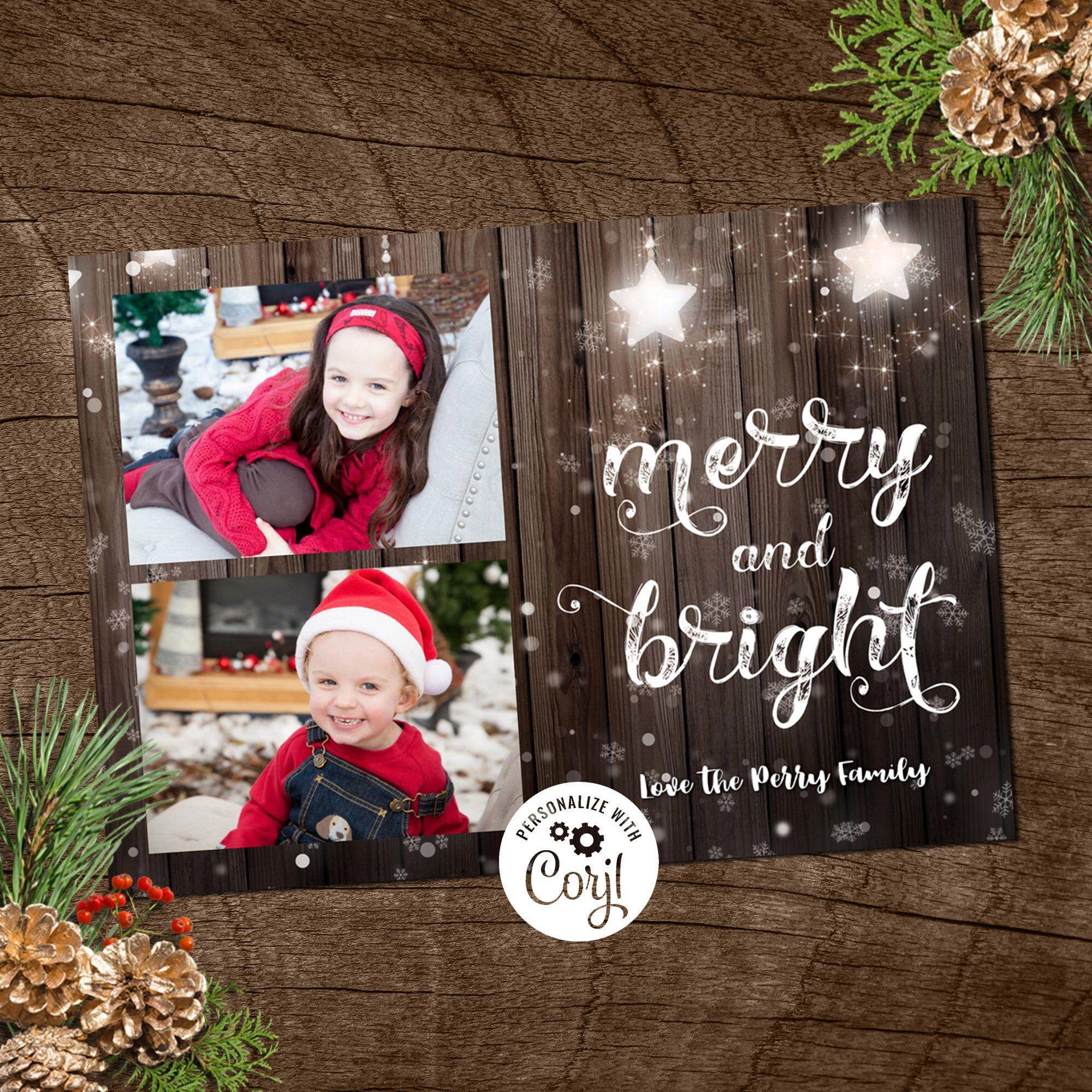 Joyful Greetings Card Holiday Family Card Photo Christmas Card Family Christmas Card Holiday Photo Card Digital Christmas Card Wood Family Christmas Cards Creative Christmas Cards Christmas Photo Cards