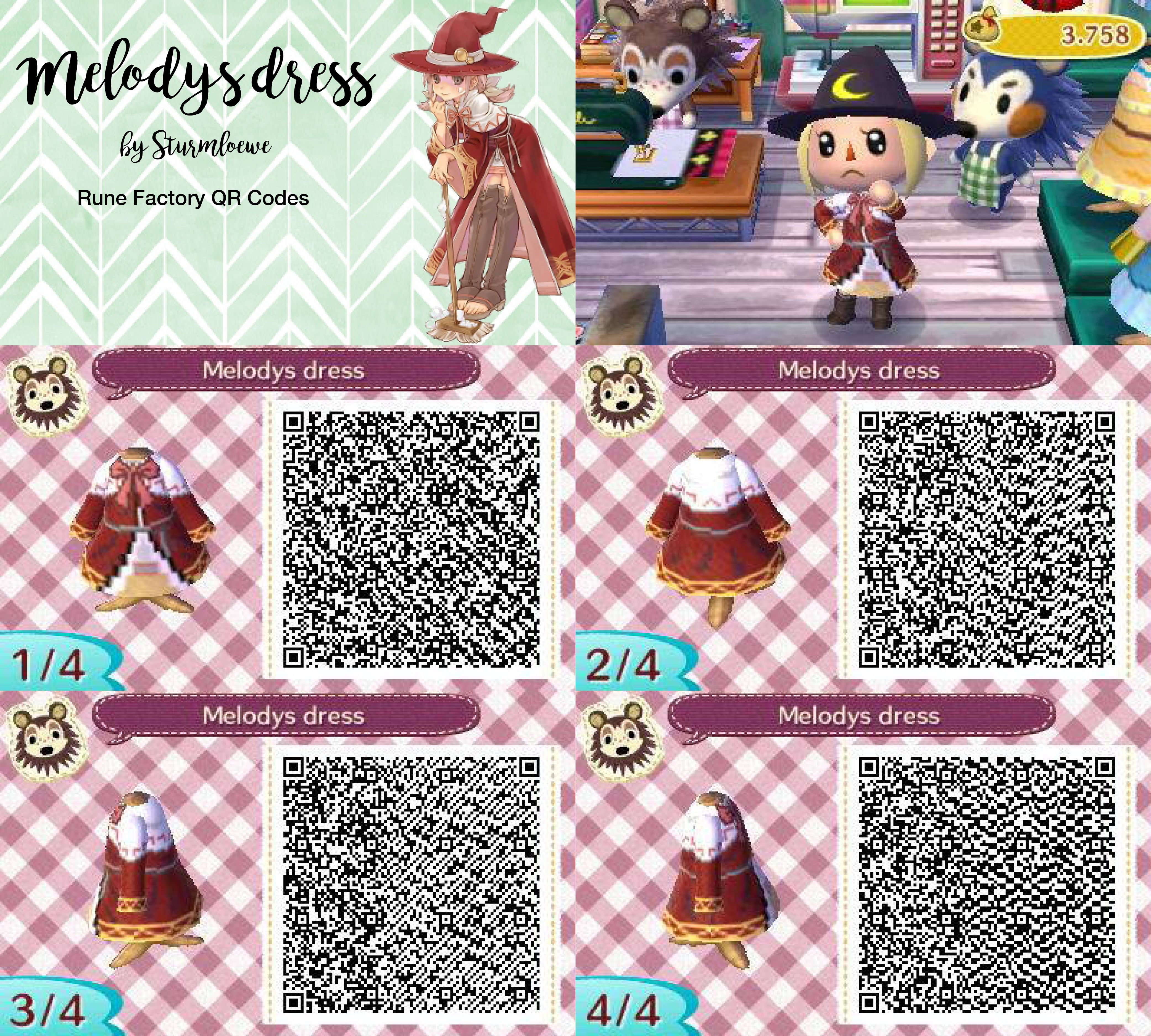 Animal Crossing New Leaf QR Codes for Clothes