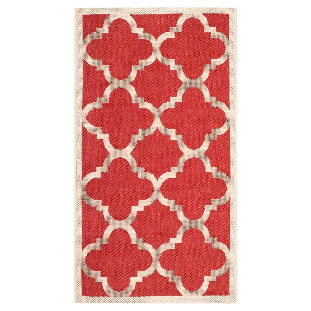 Safavieh Tarent Patio Rug - Red (