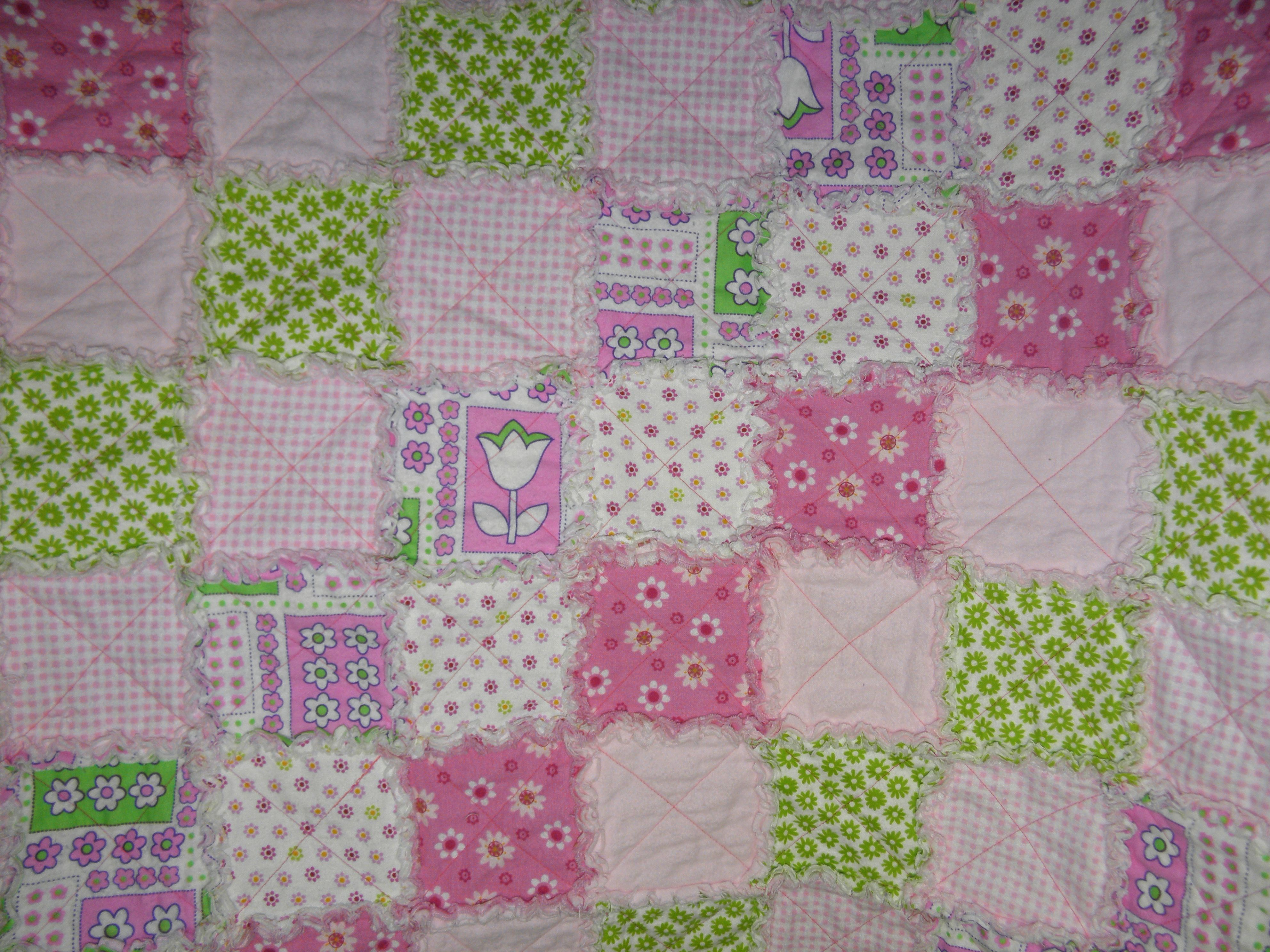 Baby crib quilts - Here S A Baby Crib Quilts Made With Soft Flannel Called A Rag