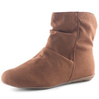 chestnut fur lined ankle boots $35
