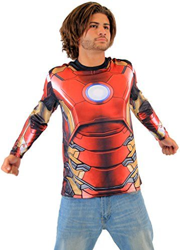 Marvel Iron Man Sublimated LONG SLEEVE Costume TShirt Adult Small - halloween costumes ideas for men