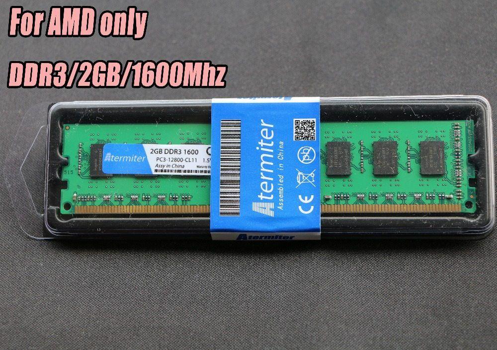 New 2gb Ddr3 Pc3 12800 1600mhz For Desktop Pc Dimm Memory Ram 240