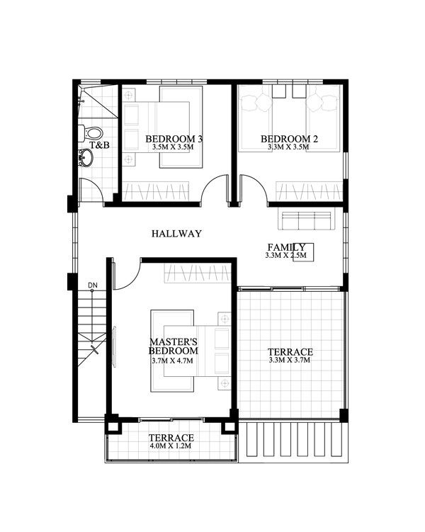 remarkable floor plan a 2 bedroom house house floor plan design CARLO u2013 4 BEDROOM 2 STORY HOUSE FLOOR PLAN | Amazing Architecture Magazine