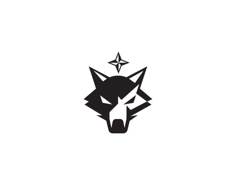 Young Wolf Icon Logo Design Icon Design Hunter Logo