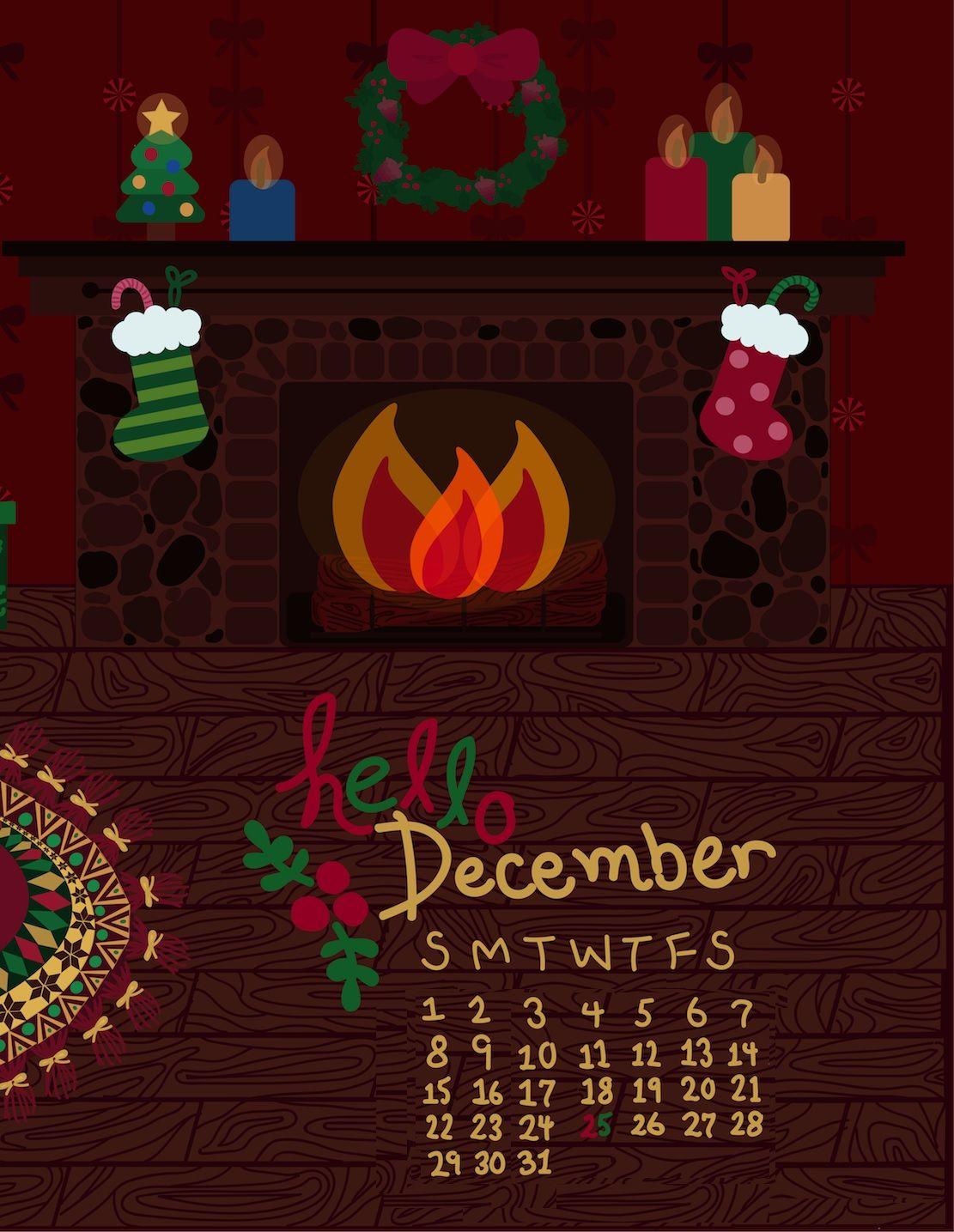 iPhone December 2019 Wallpaper Calendar Calendar