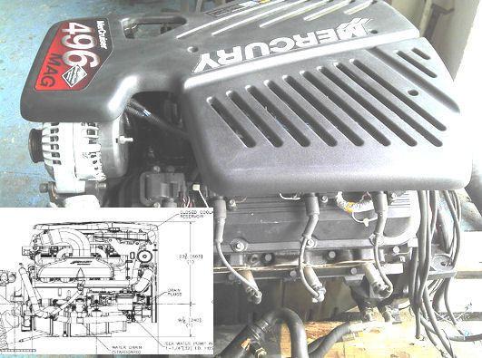 Details About Mercury Mercruiser 496 Gasoline Engine border=