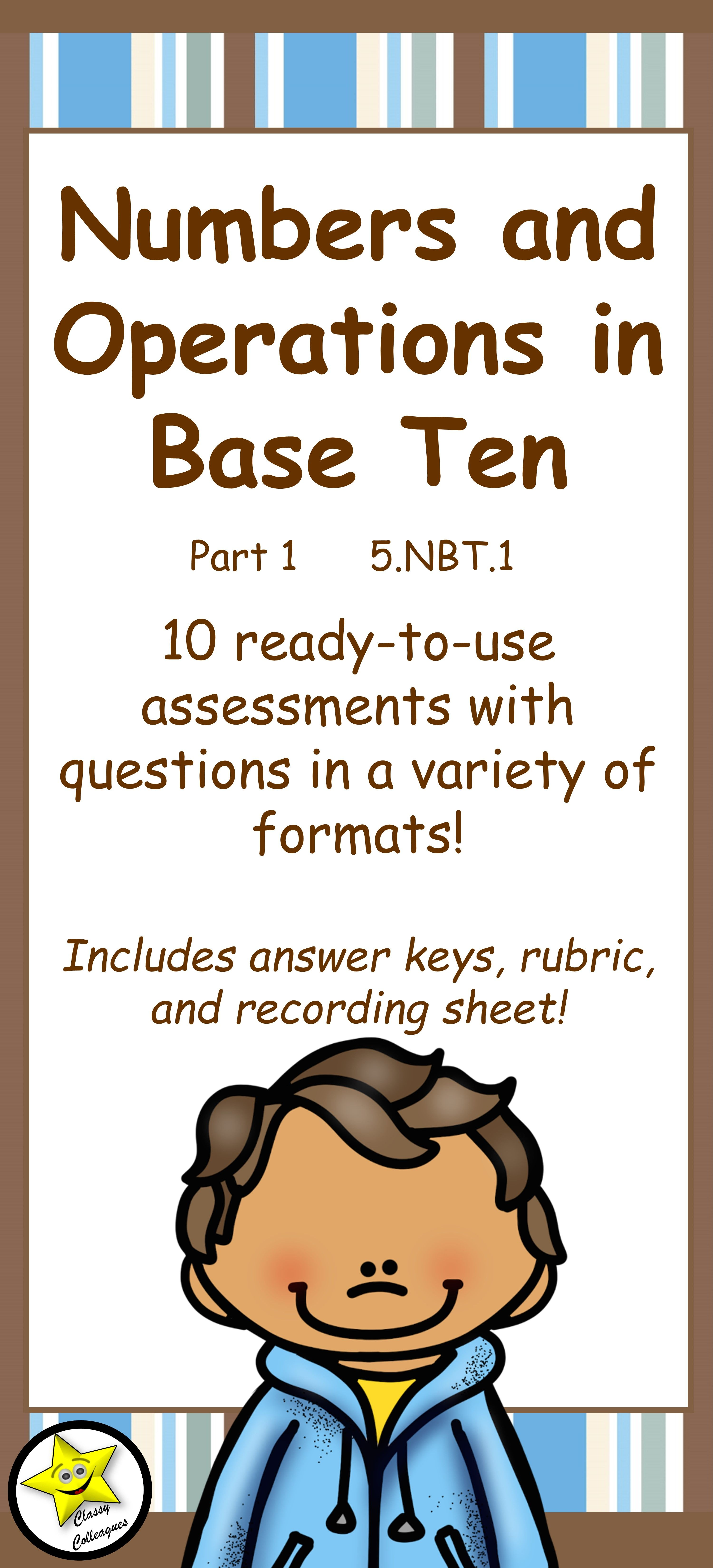 This product provides you with ten quizzes which address 5.NBT.1. These assessments will show you if a students can recognize that in a multi-digit…